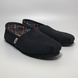 Toms Classic Women US 8.5 Black Loafer